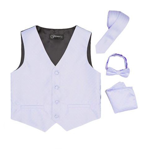 Premium Boys Lilac Diamond Vest 300 Set