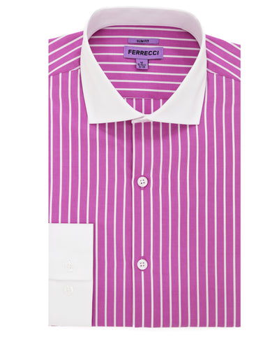 The London Slim Fit Cotton Dress Shirt - Ferrecci USA