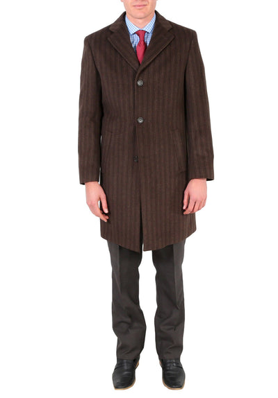 Marc Men's Wool Brown Top Coat