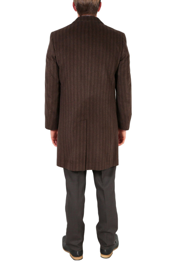 Marc Men's Wool Brown Top Coat - Ferrecci USA