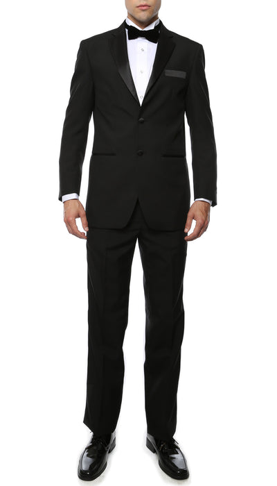 Paul Lorenzo MMTUX Black Regular Fit 2pc Tuxedo - Ferrecci USA