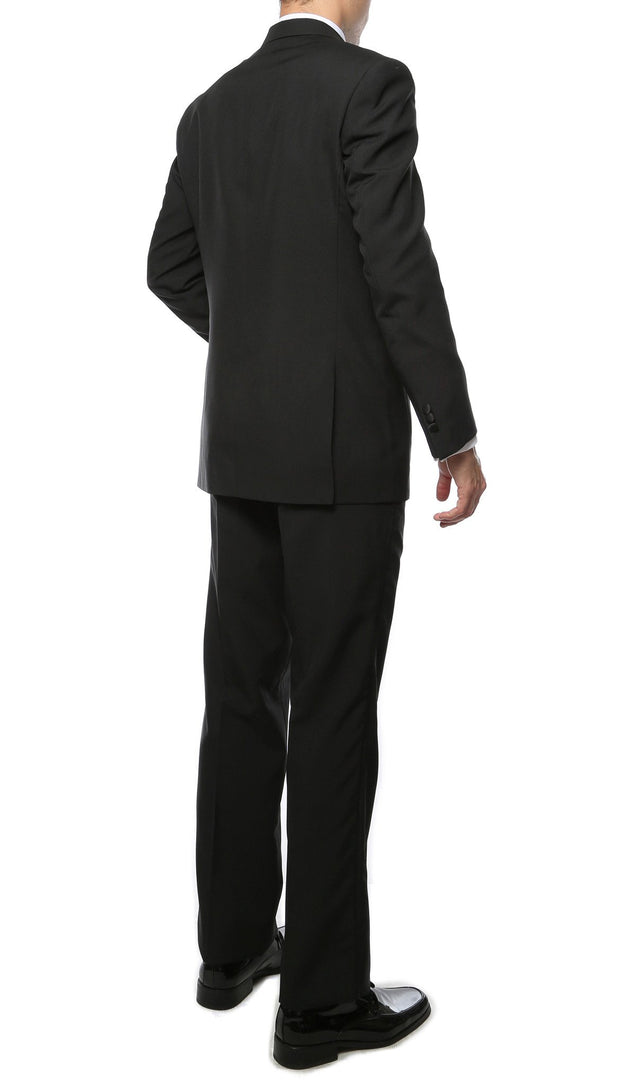 Paul Lorenzo Mens Black Regular Fit 2 Piece Tuxedo - Ferrecci USA