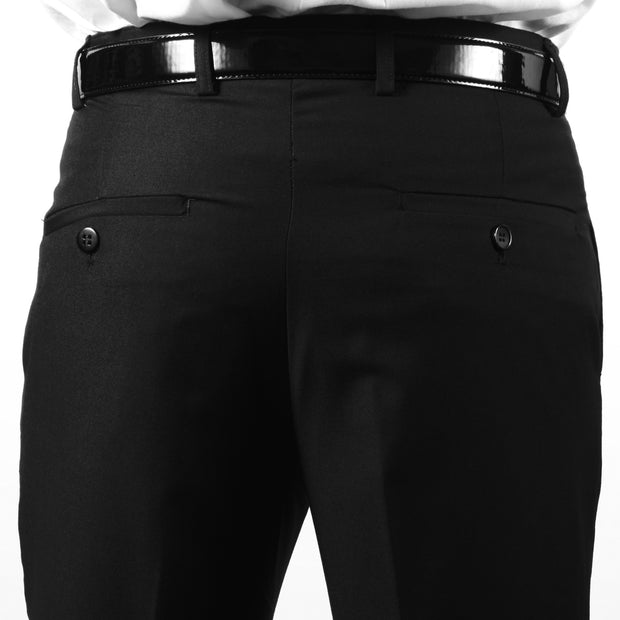 Premium Mens MP101 Black Slim Fit Dress Pants
