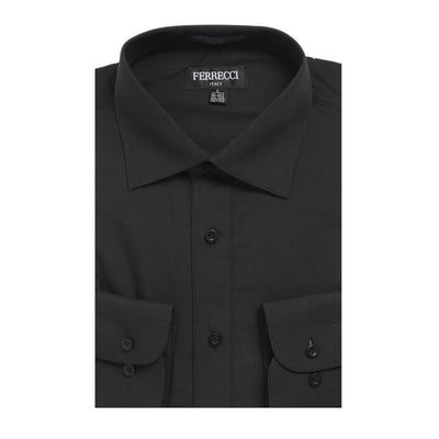 Mens Solid Dark Colored Dress Shirt - Many Colors - Ferrecci USA