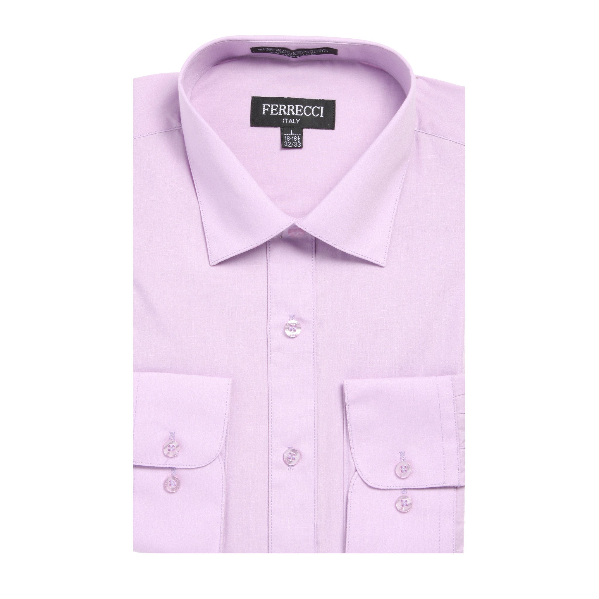 Mens Solid Light Colored Dress Shirt - Many Colors