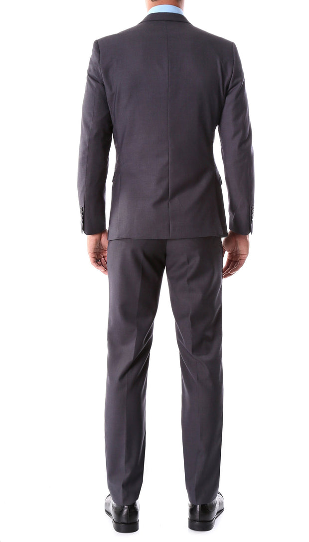 Oslo Charcoal Notch Lapel 2 Piece Slim Fit Suit - Ferrecci USA