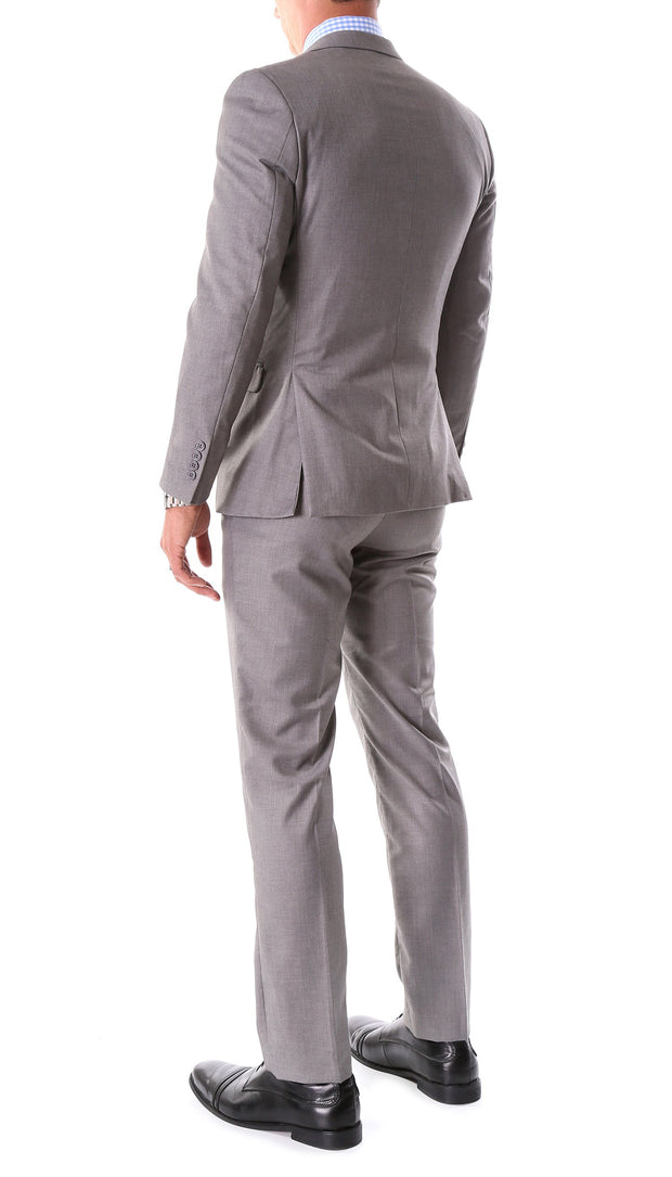 Oslo Grey Notch Lapel 2 Piece Slim Fit Suit - Ferrecci USA