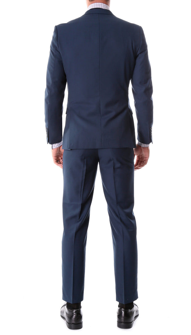Oslo Navy Notch Lapel 2 Piece Slim Fit Suit - Ferrecci USA