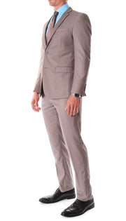 Oslo Taupe Notch Lapel 2 Piece Slim Fit Suit - Ferrecci USA