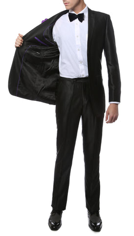 Oxford Black Sharkskin Slim Fit Suit
