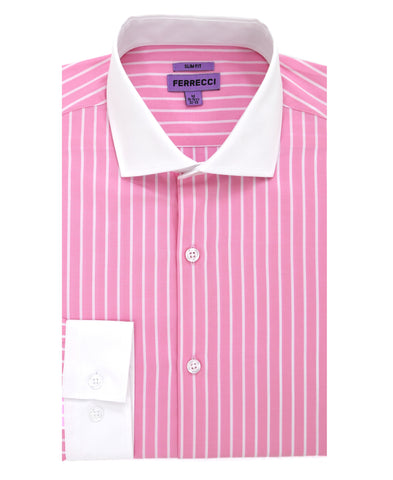 The Pitt Slim Fit Cotton Dress Shirt