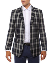 The Preston Plaid Check Slim Fit Mens Blazer - Ferrecci USA