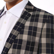 ferrecci preston plaid slim fit mens blazer