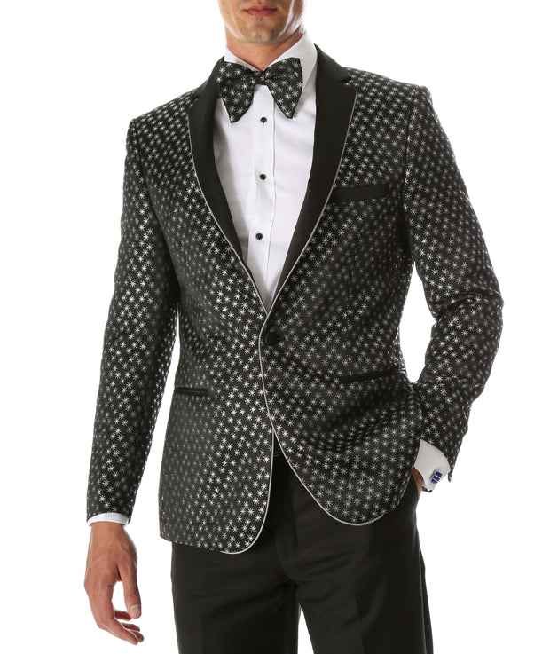 Mens Pronto Silver Star Modern Fit Tuxedo Blazer