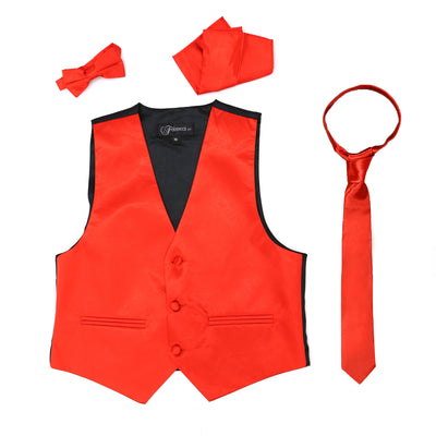 Premium Boys Red Solid Vest 600 - Ferrecci USA