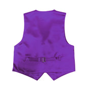 Premium Boys Purple Solid Vest 600 - Ferrecci USA