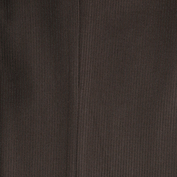 Parker Slim Fit Brown Striped Tone on Tone Wool Suit