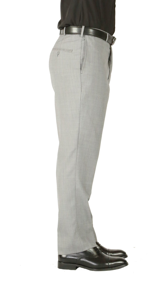 Rod Premium Light Grey Wool 2 Piece Suit Stain Resistant Traveler Suit - w 2 Pairs of Pants - Ferrecci USA
