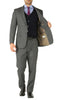 Rod Premium Grey Wool 2pc Stain Resistant Traveler Suit - w 2 Pairs of Pants