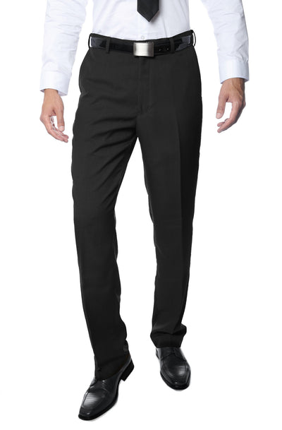 Premium Black Regular Fit Suspender Ready Formal & Business Pants