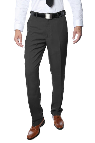 Premium Taupe Regular Fit Suspender Ready Formal & Business Pants