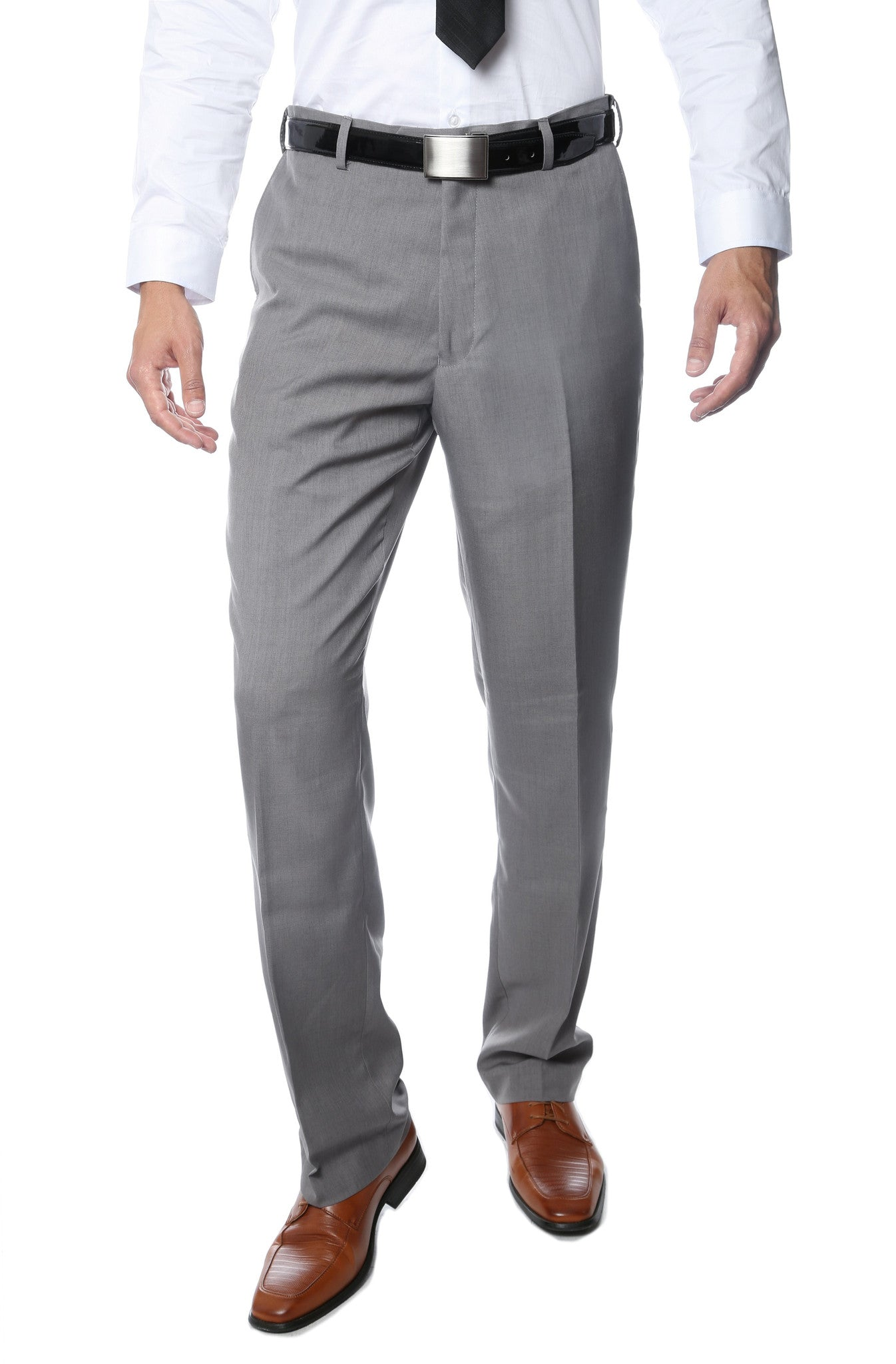 Premium Mens MPR101 Grey Regular Fit Pants