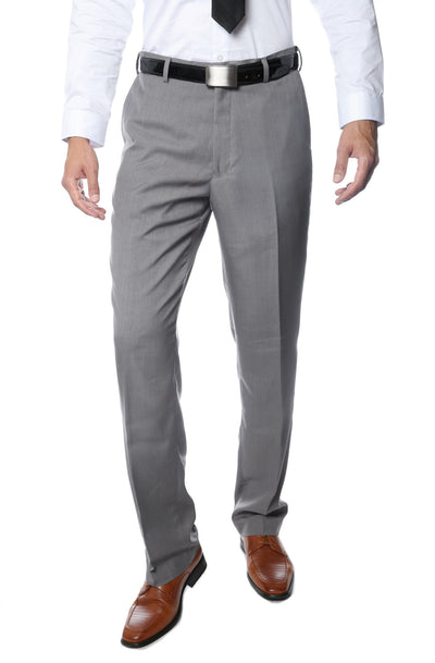 Premium Grey Regular Fit Suspender Ready Formal & Business Pants