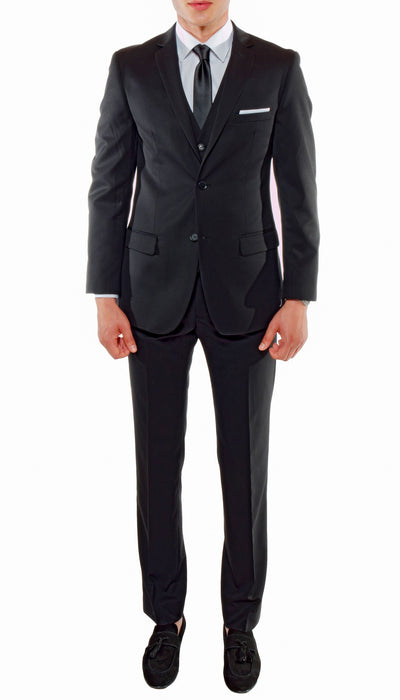Ferrecci Mens Savannah Black Slim Fit 3 Piece Suit - Ferrecci USA
