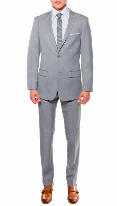 Ferrecci Mens Savannah Light Grey Slim Fit 3 Piece Suit - Ferrecci USA