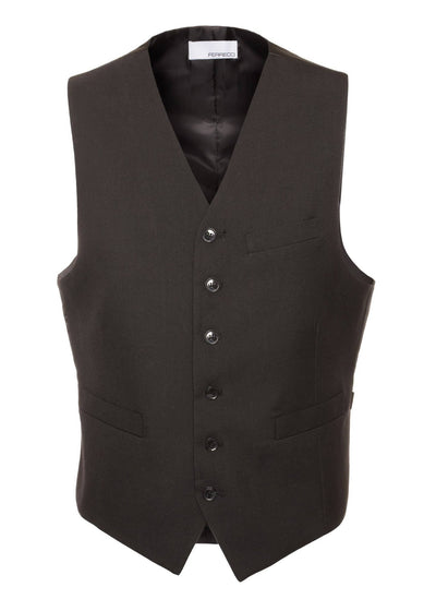 Ferrecci Premium Mens SOLO Casual & Formal Black Vest