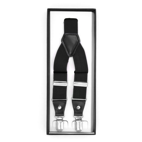 Black Clip-On Unisex Suspenders