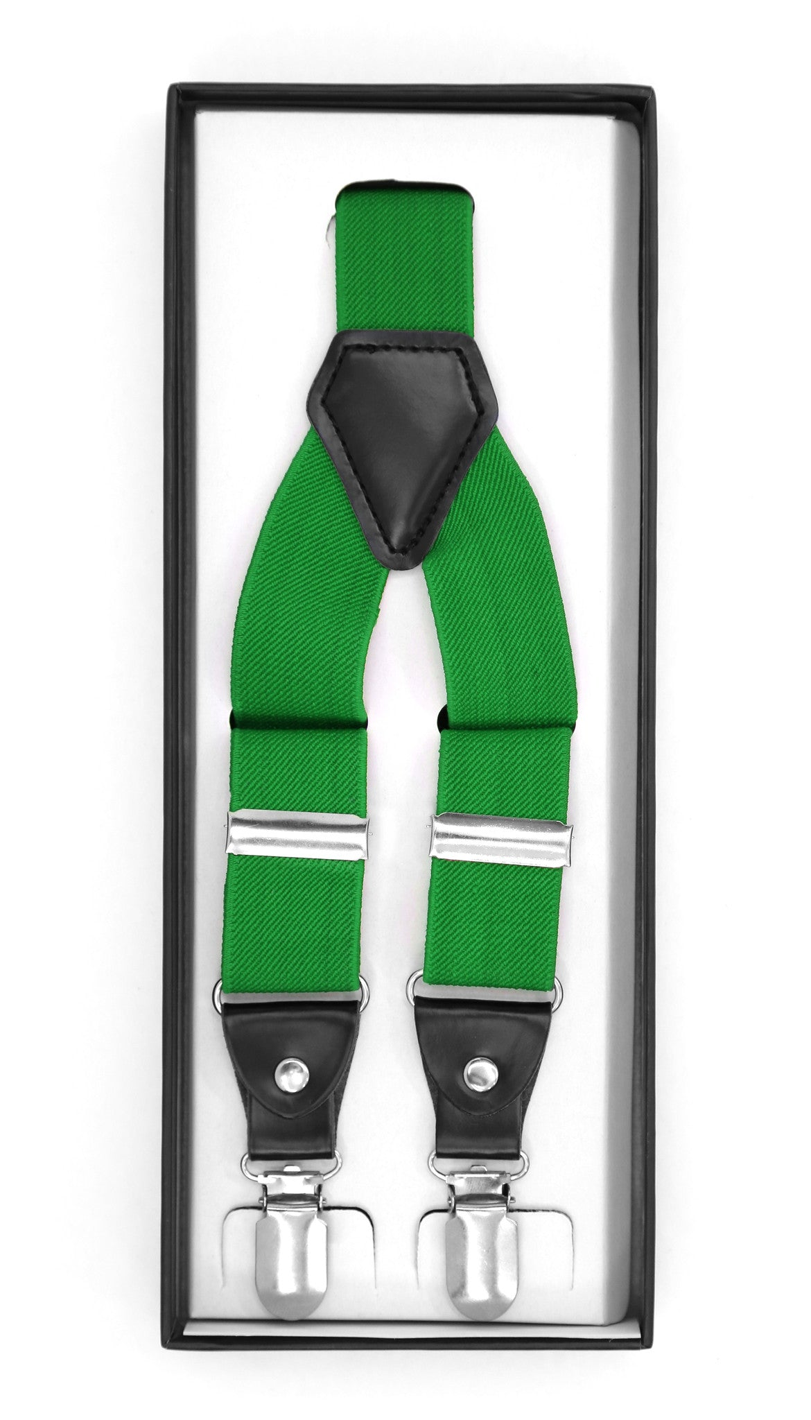 Green Clip-On Unisex Suspenders