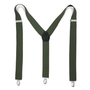 Hunter Green Vintage Style Unisex Suspenders - Ferrecci USA