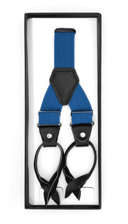 Royal Blue Unisex Button End Suspenders
