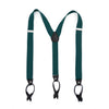 Ferrecci Premium Unisex Teal Button End Suspenders