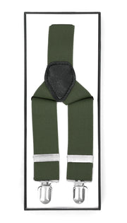 Hunter Green Vintage Style Unisex Suspenders