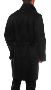 Premium Mens Black British Classic Fit Urban Trench Coat - Ferrecci USA