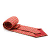 FHY INC red cow print tie with handkerchief