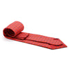 FHY INC red carriage print tie with handkerchief
