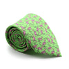 FHY INC green flamingo print tie