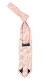 Orange Necktie with Handkerchief Set - Ferrecci USA
