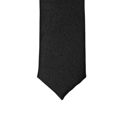 Super Skinny Black Shiny Slim Tie