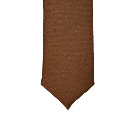 Super Skinny Brown Shiny Slim Tie