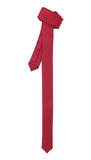 Super Skinny Burgundy Shiny Slim Tie - Ferrecci USA