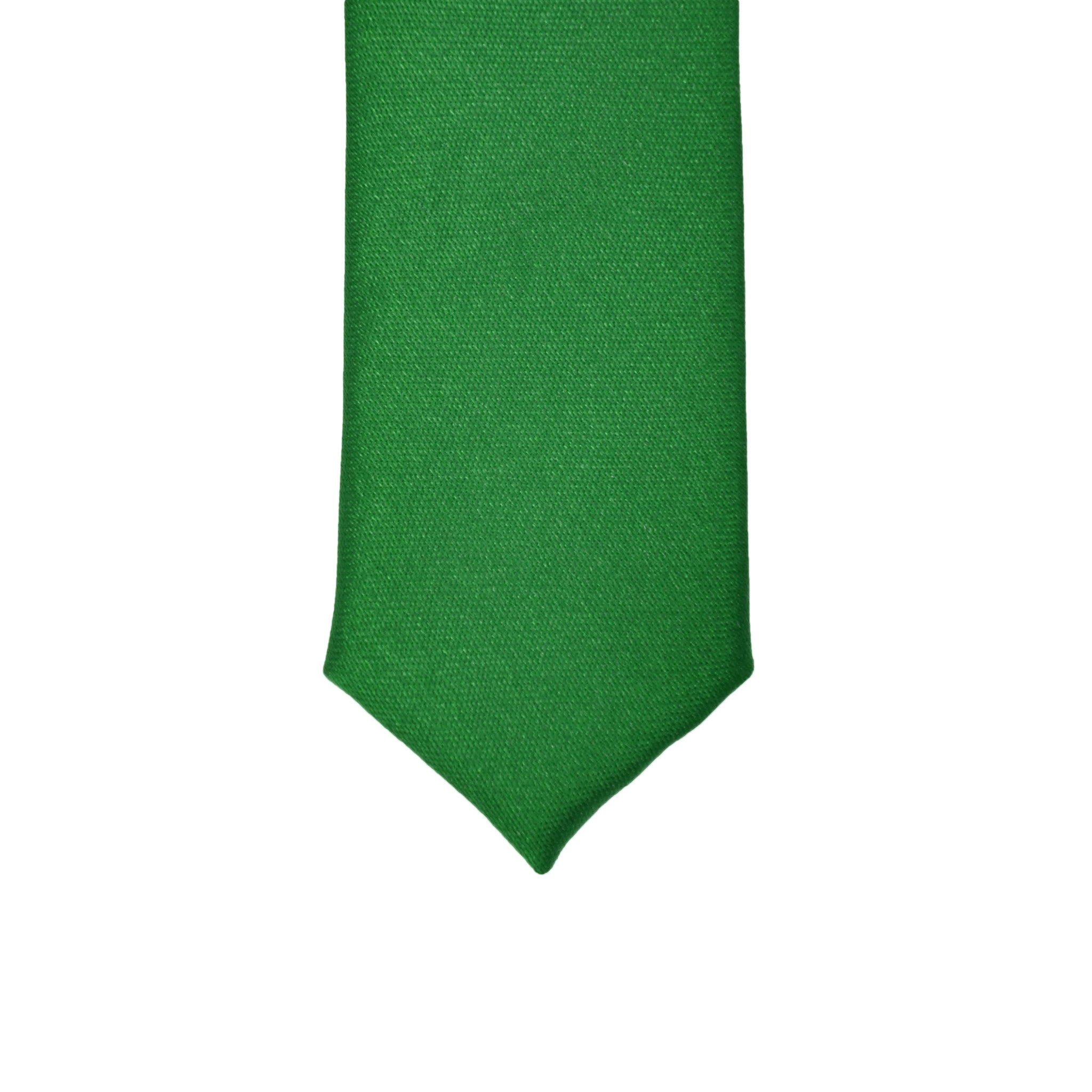 Super Skinny Green Shiny Slim Tie