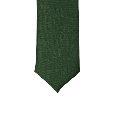 Super Skinny Hunter Green Shiny Slim Tie