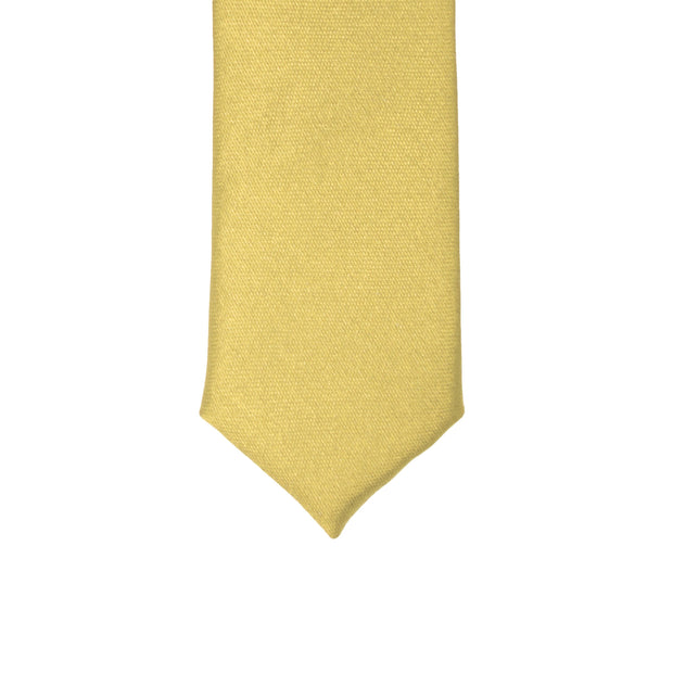 Super Skinny Light Yellow Shiny Slim Tie