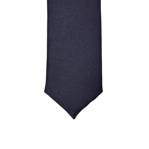Super Skinny Navy Shiny Slim Tie