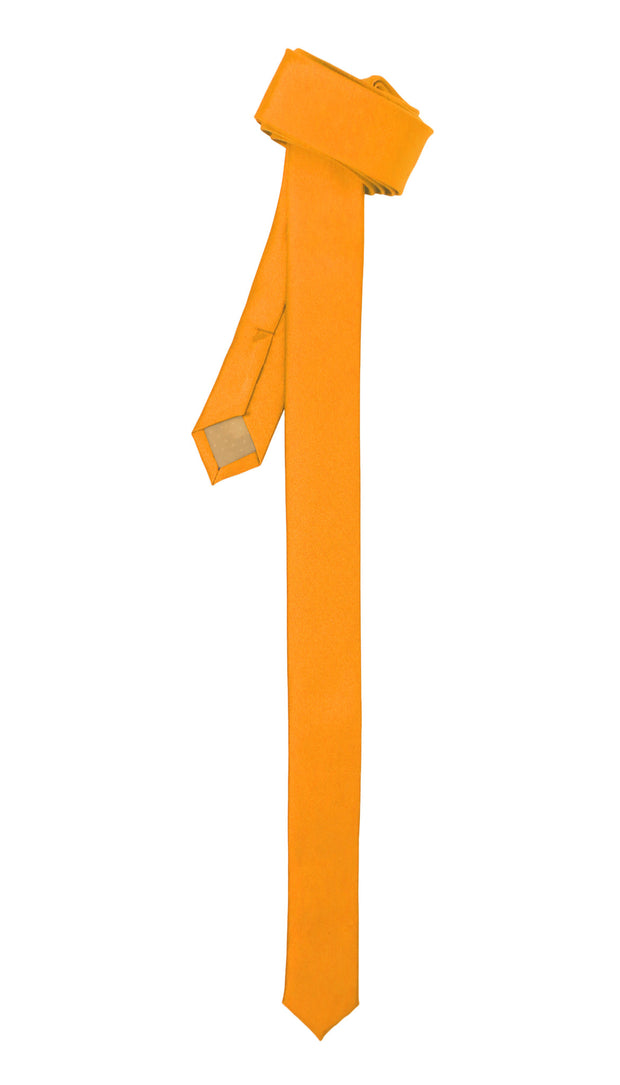 Ferrecci Super Skinny Orange Shiny Slim Tie