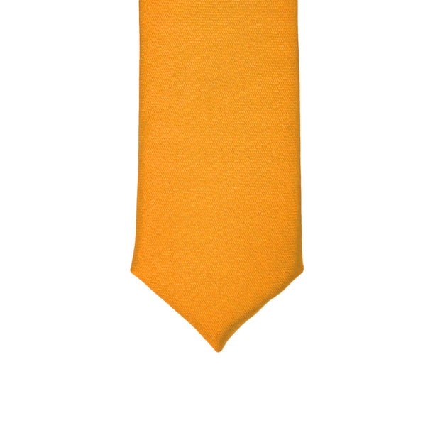 Super Skinny Orange Shiny Slim Tie